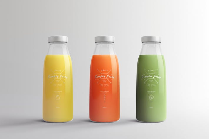 Thumbnail for Juice Bottle Packaging Mock-Ups Vol.1