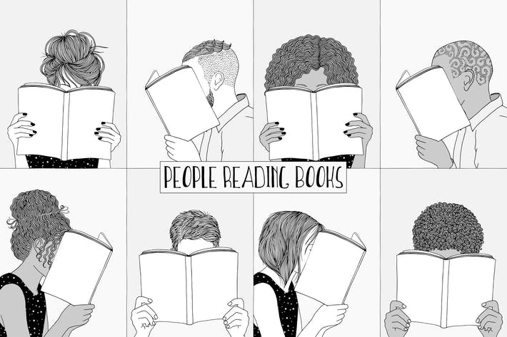 Thumbnail for People Reading Books