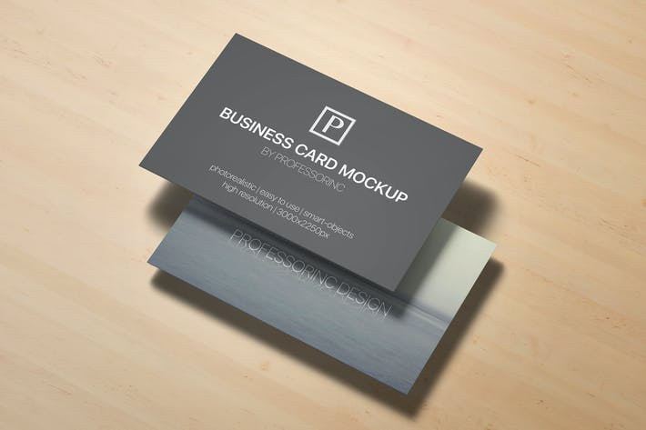 Cover Image For 85x55 Business Card Mock-Up