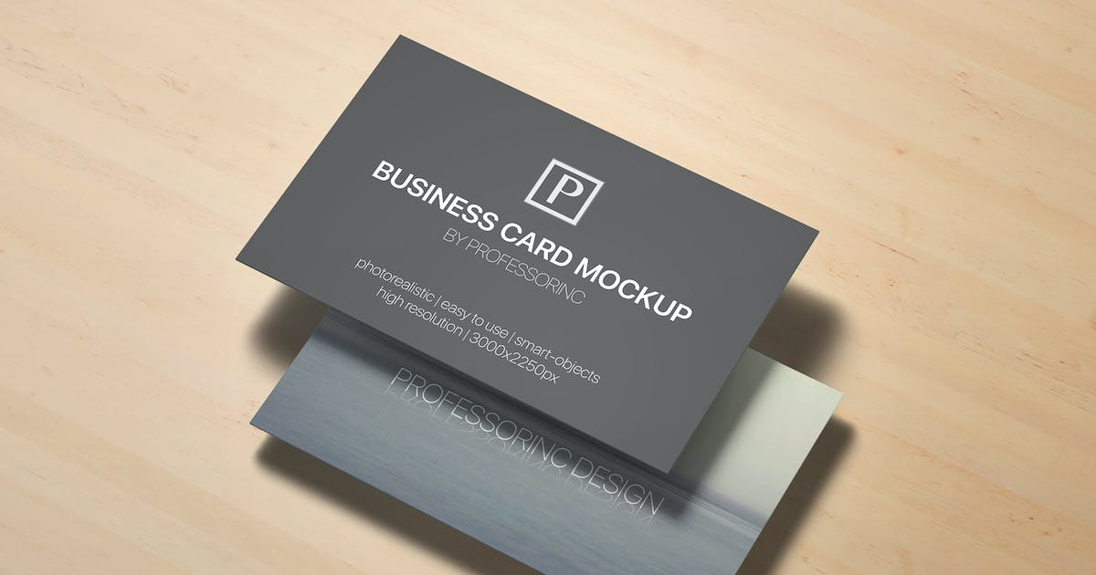 Download 85x55 Business Card Mock-Up by Unknow