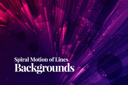 Spiral Motion of Lines Backgrounds
