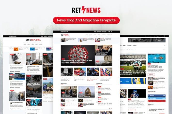Thumbnail for Retnews - News, Blog & Magazine Template