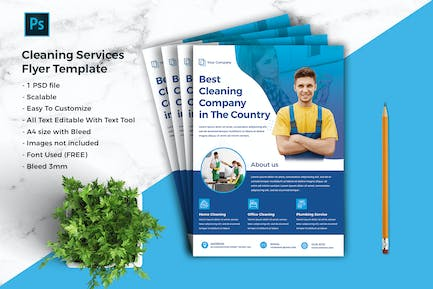 Cleaning Services Flyer Template vol-04