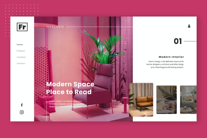 Interior Fronts Hero Header Website