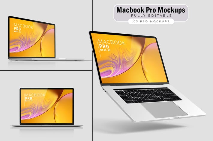 Thumbnail for Macbook Pro Mockups V.4