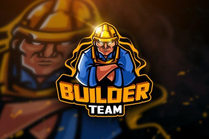 Thumbnail for Builder Team- Mascot & Esport Logo