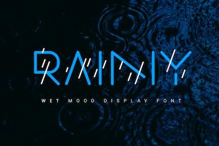 Rainy| color line font