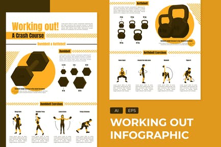 Working Out - Infographic Template