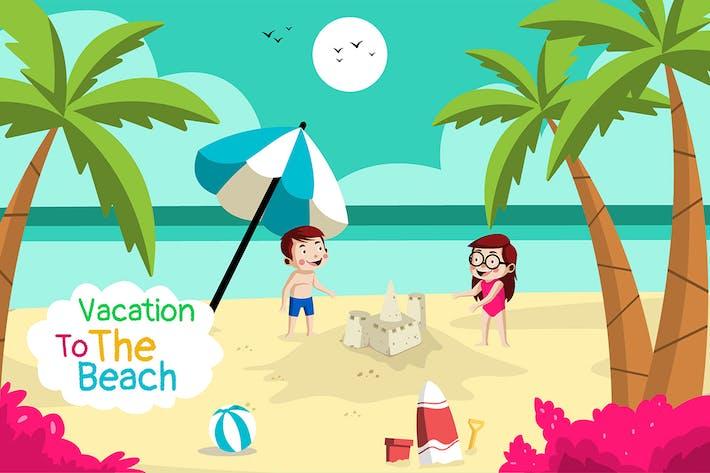 Thumbnail for Urlaub am Strand - Illustration