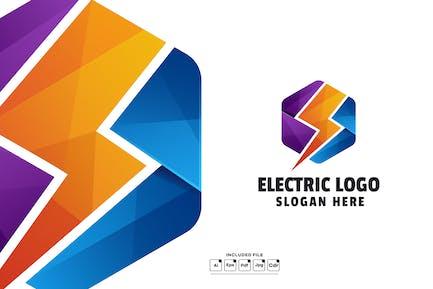 Geometric Electric Gradient Logo Template