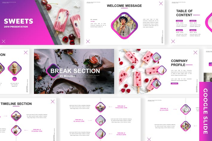 Thumbnail for Sweets - Business Google Slide Template