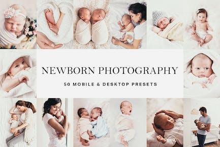 50 Newborn Baby Lightroom Presets and LUTs