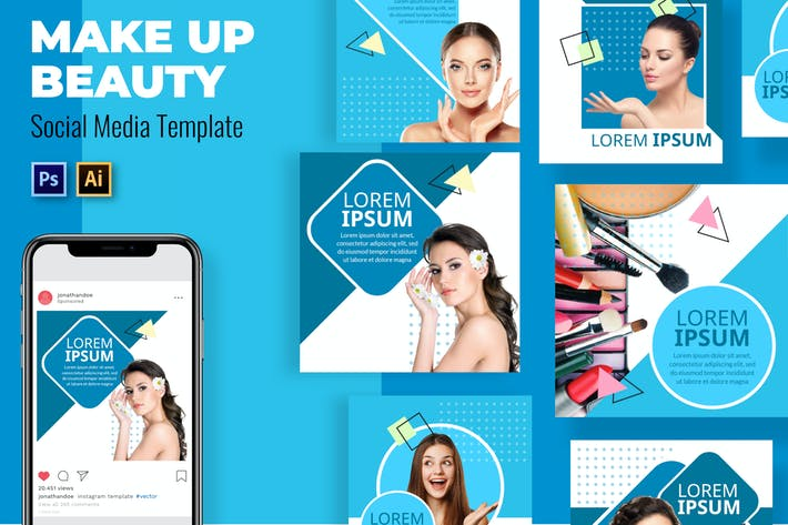 Make Up Social Media Template