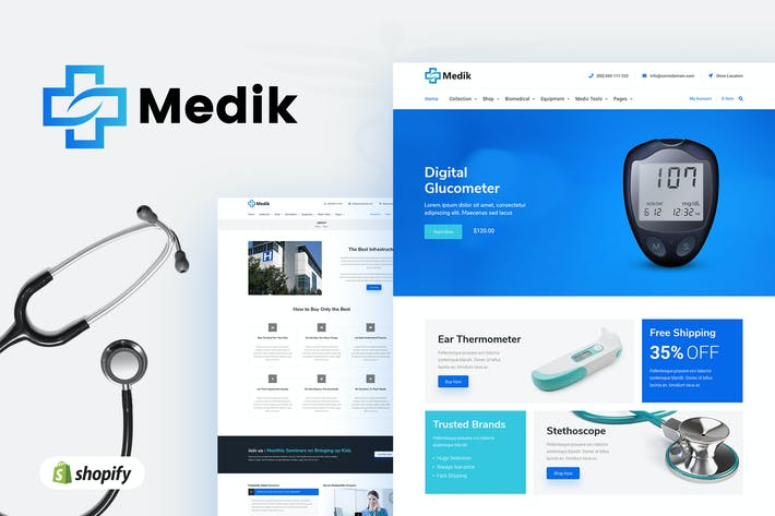 Thumbnail for Medik | Medical Shopify Tema para
