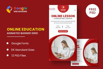 Education Online Animated Banner GWD