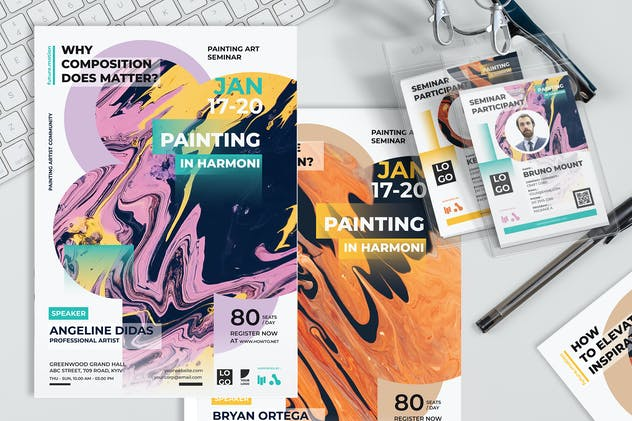 Art and Painting - Poster and Seminar Invitation