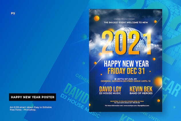 Cd New Year Party Poster