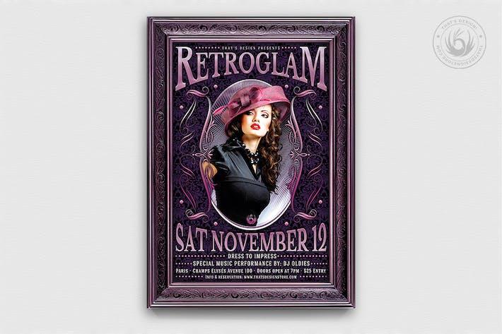 Thumbnail for Retro Glam Flyer Template V3