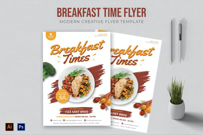 Breakfast Time - Flyer
