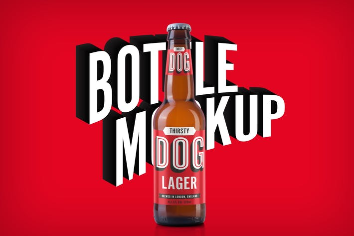 Thumbnail for Beer Bottle Mockup
