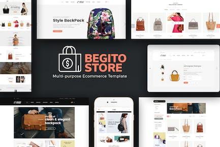 Begito - Сумка магазин Отзывчивый Opencart 3.x Тема