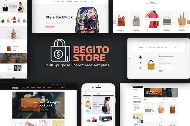 Begito - Bag Store Responsive Opencart 3.x Theme