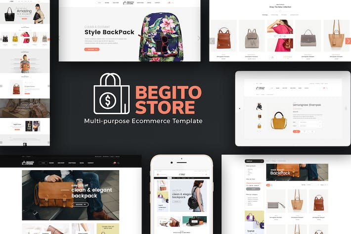 Thumbnail for Begito - Bag Store Responsive Opencart 3.x Theme