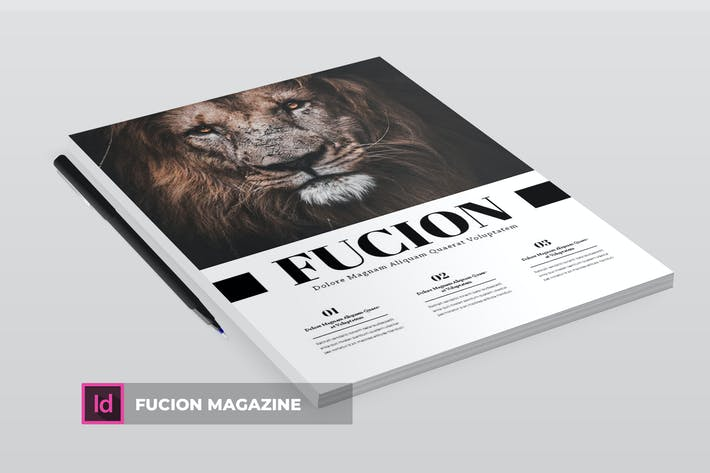 Thumbnail for Fucion | Magazine Template
