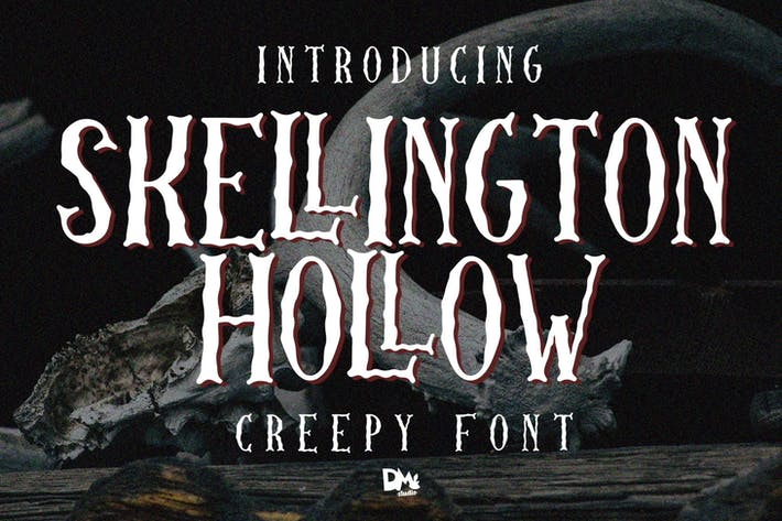 Thumbnail for Skellington Hollow - Creepy Font