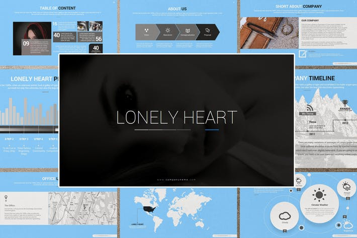 Thumbnail for LONELY HEART Google Slides