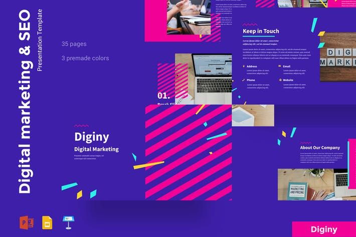 Thumbnail for Diginy - Digital Marketing & SEO Presentation
