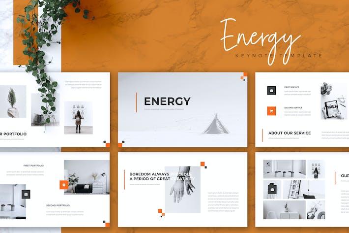 Thumbnail for ENERGY - Creative Keynote Template
