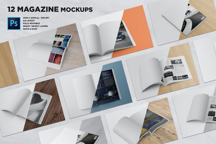Thumbnail for Magazine Mockups