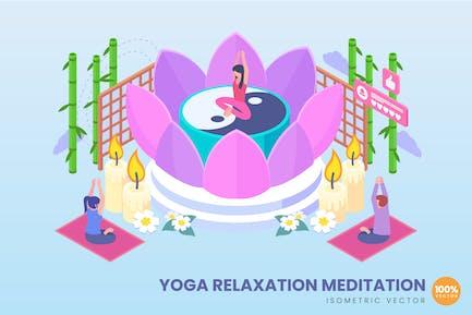 Isometric Yoga Relaxation Meditation Concept