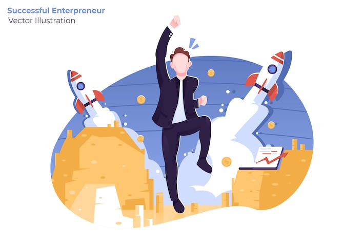 Thumbnail for Successful Enterpreneur - Vector Illustration