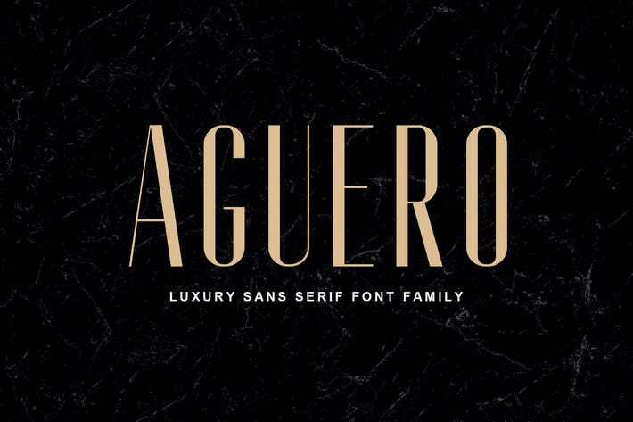 Thumbnail for Aguero Sans - Luxury Sans Serif Font