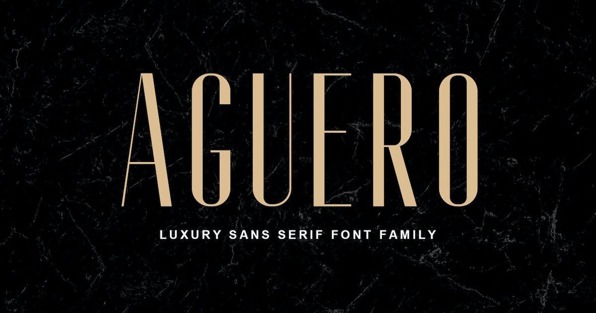 Download Aguero Sans - Luxury Sans Serif Font by craftsupplyco