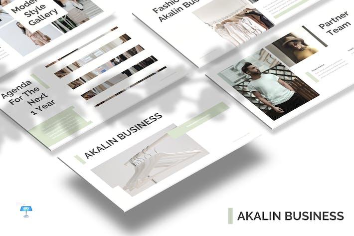 Thumbnail for Akalin Business - Keynote Template
