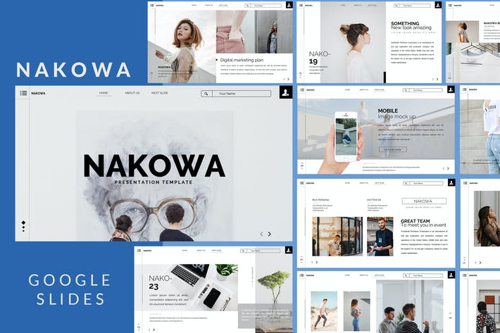 Thumbnail for Nakowa Minimal - Web Style Google Slide