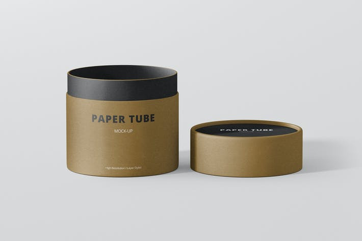 Thumbnail for Paper Tube Packaging Mock-Up - Small