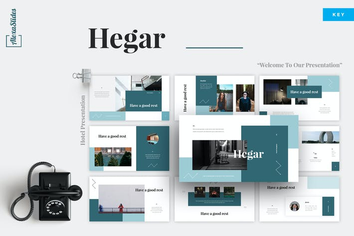 Thumbnail for Hegar - Hotel Keynote Template