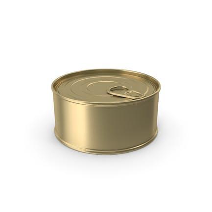 Lebensmitteldosen-Gold ohne Etikett