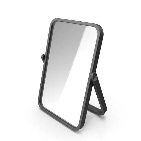 Black Double Sided Makeup Mirror