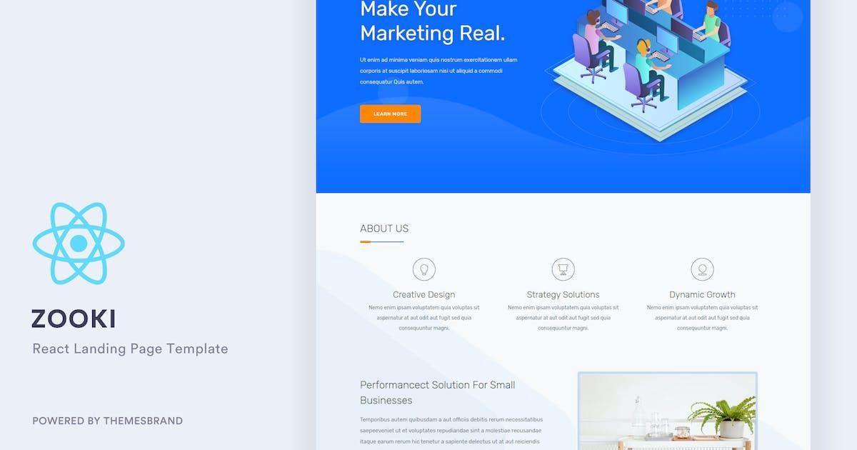 Download Zooki - ReactJs Landing Page Template by Themesbrand
