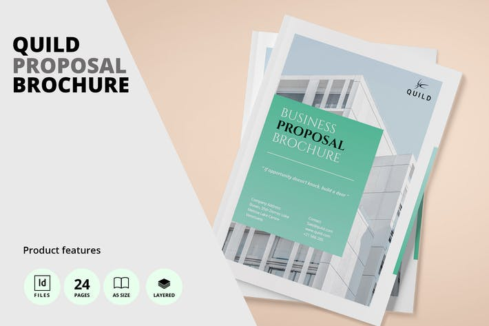 Thumbnail for Architecture A5 Proposal Brochure Template