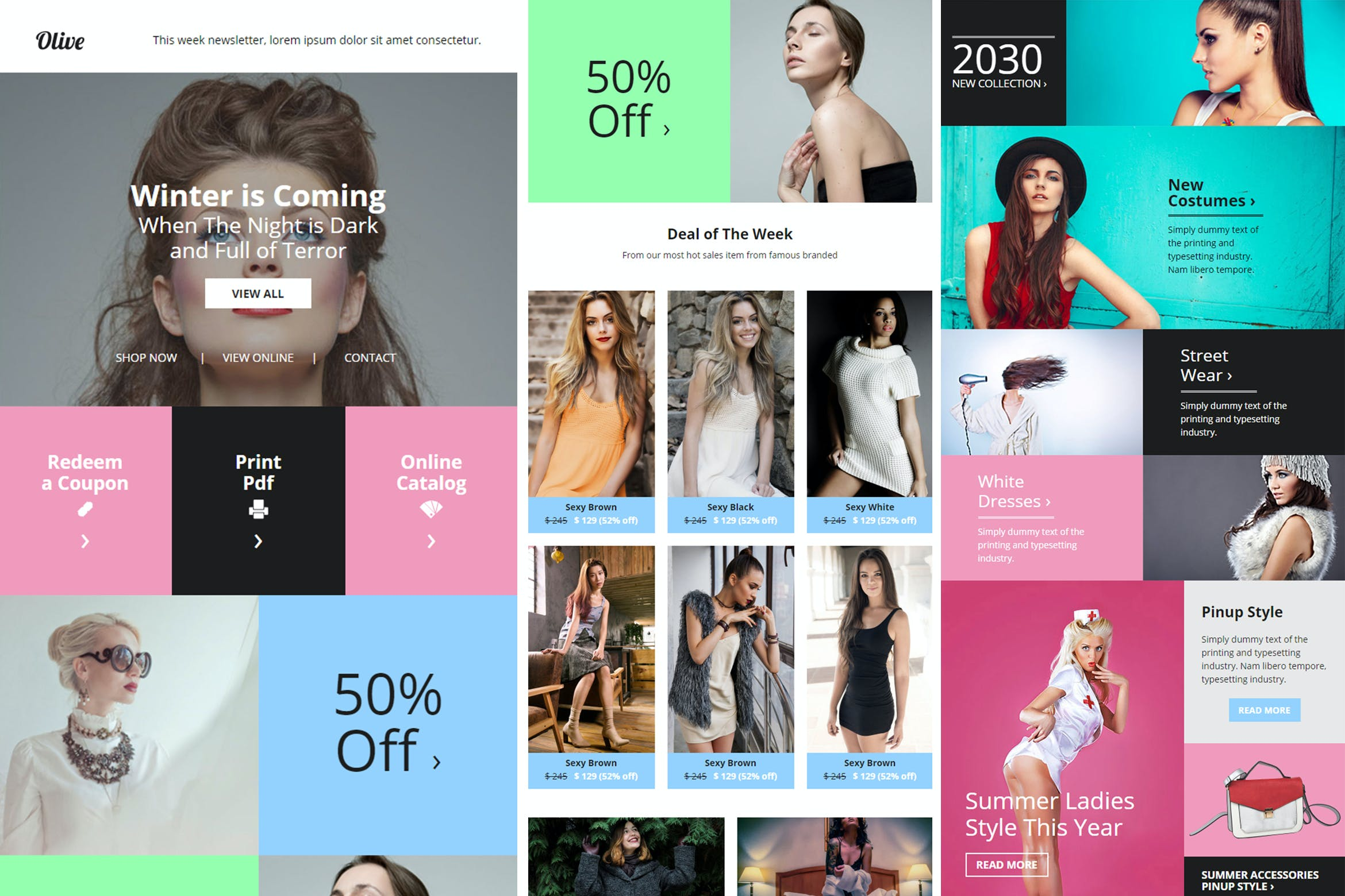 Olive Fashion Ecommerce Email Newsletter By Giantdesign On Envato Elements