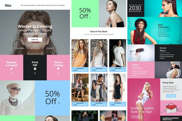 Cover Image For Olive - Fashion Ecommerce Email Newsletter