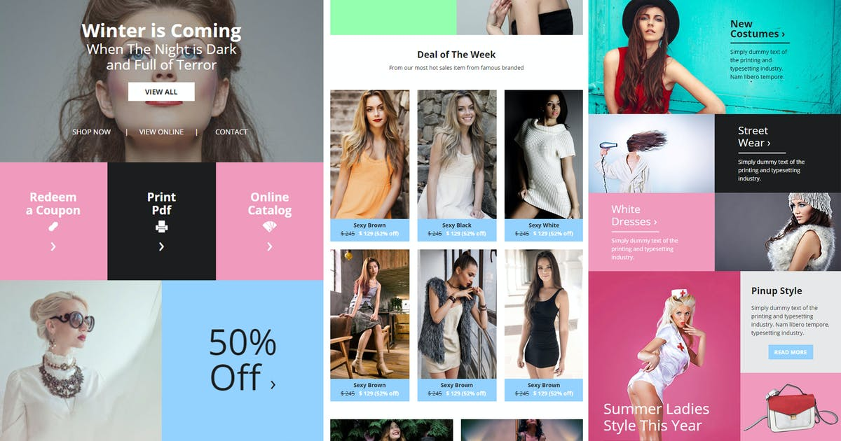 Download Olive - Fashion Ecommerce Email Newsletter by giantdesign