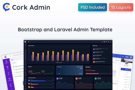 Cork - HTML and Laravel Admin Dashboard