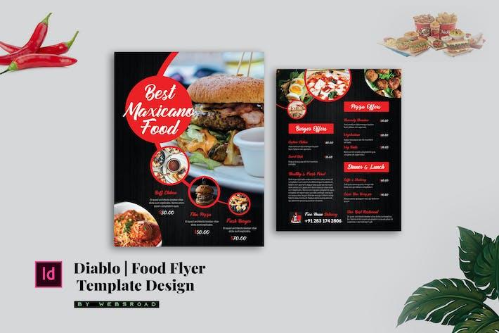 Thumbnail for Diablo | Food Flyer Design Template